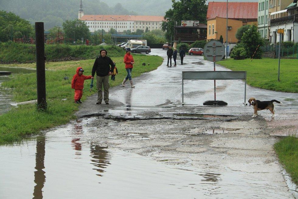 Velká voda v Děčíně v neděli 2.června 2013.