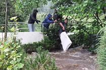 Velká voda v Kytlicích.