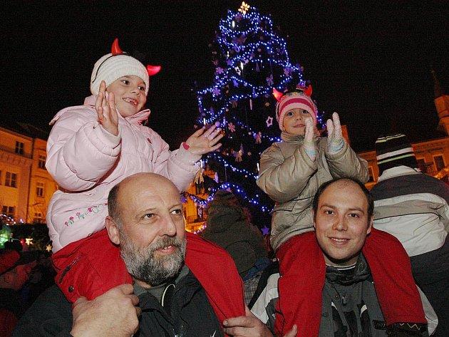 Vánoční strom v Děčíně 2011