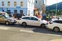 Nehoda v Kamenické ulici v Děčíně