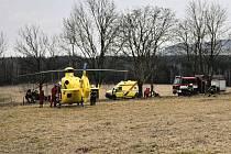 Vážná dopravní nehoda u Mikulášovic, 8. března 2017