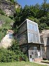 Bývalý výtah na Pastýřskou stěnu.