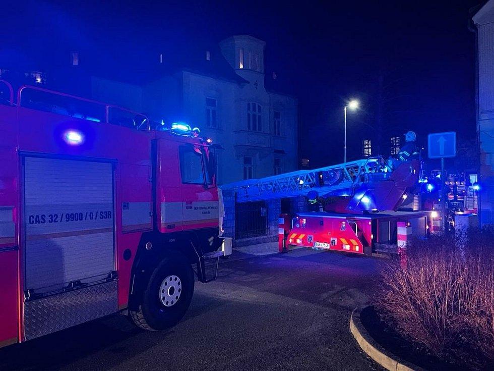 Zásah hasičů v Rumburku.