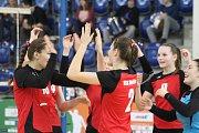 PARÁDA! Děčínské volejbalové juniorky dvakrát porazily Jablonec a postoupily do druhého kola kvalifikace o Extraligu.