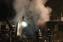 Při požáru v Srbské Kamenici zemřel jeden člověk.