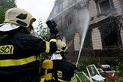 Požár v Karlově ulici ve Varnsdorfu