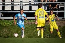 JAKUB BARAC (zcela vpravo) při nepovedeném utkání v Prostějově.