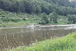 V Dolním Žlebu se utrhl přívoz.