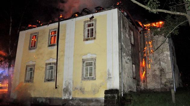 Požára fary v Brtníkách