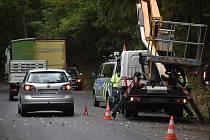 Vážná dopravní nehoda u Valkeřic.