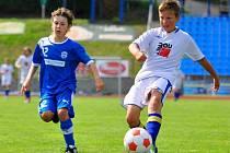 MLÁDEŽNICKÉ TÝMY. Důležitou součástí FK Varnsdorf jsou mládežnické celky. Archivní snímek se vrací k utkání U 12 mezi FAŠV a SK Kladno.
