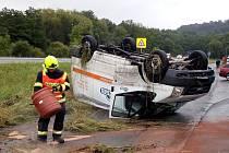 Dopravní nehoda v Ludvíkovicích.