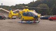 Vrtulník zasahoval v Bynově v pátek odpoledne.