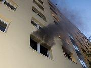 Požár bytu v Polní ulici v Rumburku.
