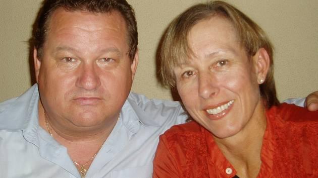 Jiří Petrášek se spolužačkou Martinou Navrátilovou, slavnou tenistkou