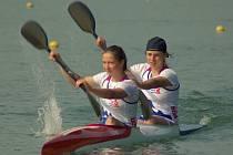 VYŠLO TO. Kateřina Zárubová (na snímku jako první) se v Račicích nominovala na evropský šampionát juniorů, který se bude konat v Plovdivu.