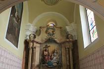 Kaple Nejsvatější Trojice - celkový pohled po restaurování.