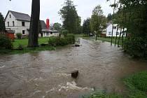Září 2010. Povodně na Děčínsku.