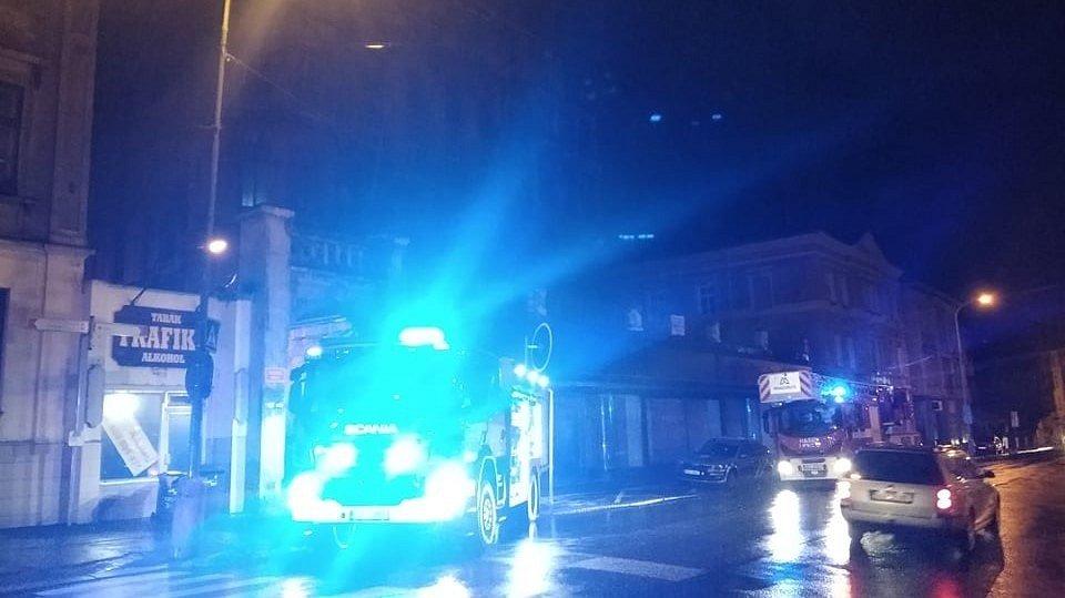 Požár v Teplické ulici.