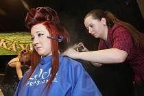 Kadeřnice předvedly kouzla s vlasy v divadle.