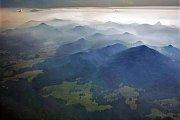 Lužické hory z 2000 metrů.