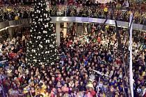 Centrum Pivovar Děčín se naladilo vánočně.