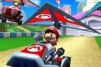 Hra Mario Kart.