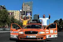 Cestovatelé v Las Vegas.