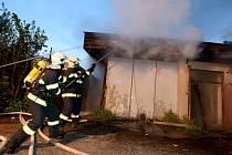 Požár opuštěného objektu ve Varnsdorfu.