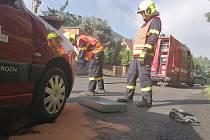 Dopravní nehoda dvou osobních aut v Jílovém.