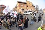 Demonstrace ve Varnsdorfu 29. ledna 2012.