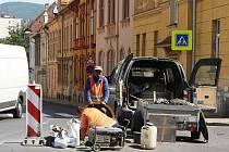 Opravy silnic, ilustrační foto.