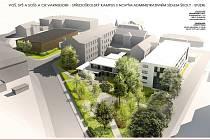 Vizualizace středoškolského kampusu ve Varnsdorfu.
