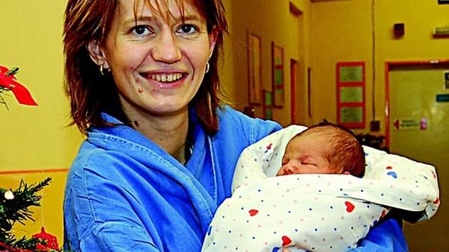 Miriam Fábelové z Děčína se v děčínské porodnici24. prosince ve 14.48 hodin  narodila dcera Terezka. Měřila 49 cm a vážila 3,18 kg.