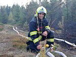 Požár lesa u Sněžníku