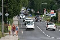 Pražská ulice v Rumburku.