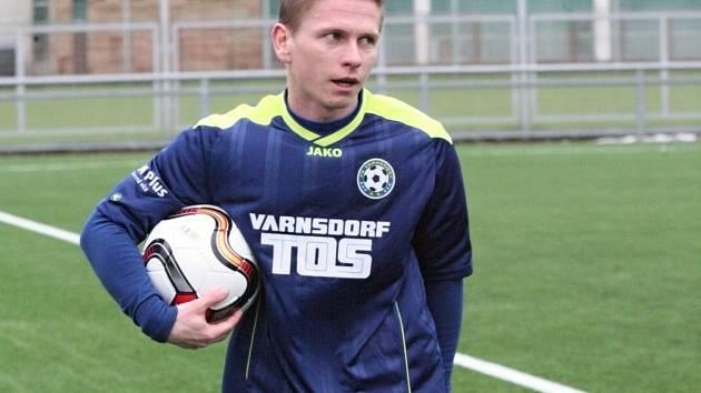 PAVLO RUDNYTSKYY, jediný varnsdorfský střelec v utkání proti Jablonci.