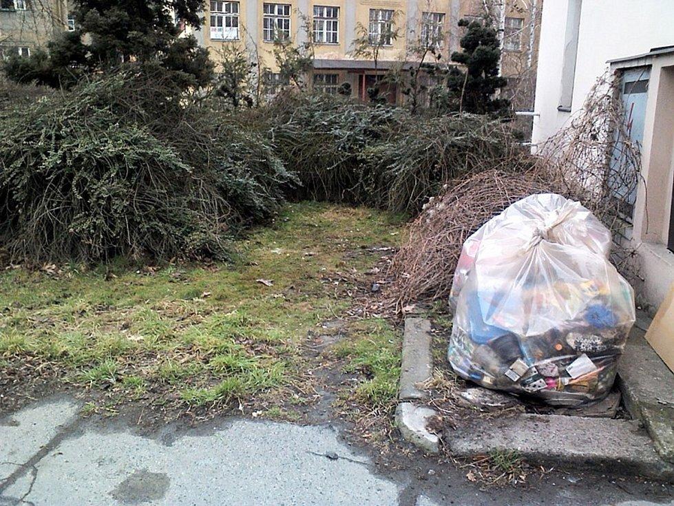 Po úklidu skládky v ulici Pivovarská v Děčíně.