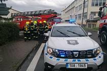 Požár bytu v Jílovém.