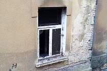 Požár bytu v Dolní Kamenici.