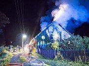 Požár rodinného domu v Lobendavě.