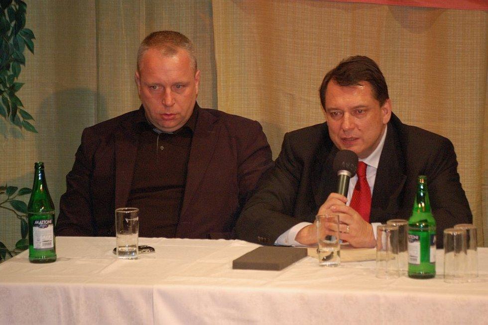 Jiří Paroubek zajel v podvečer na Šluknovsko