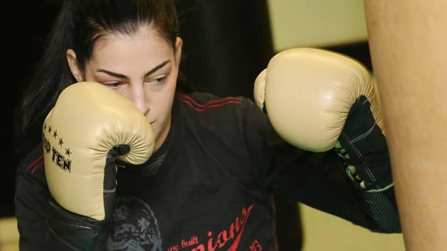 LUCIE SEDLÁČKOVÁ, boxerka, která pochází z Děčína.