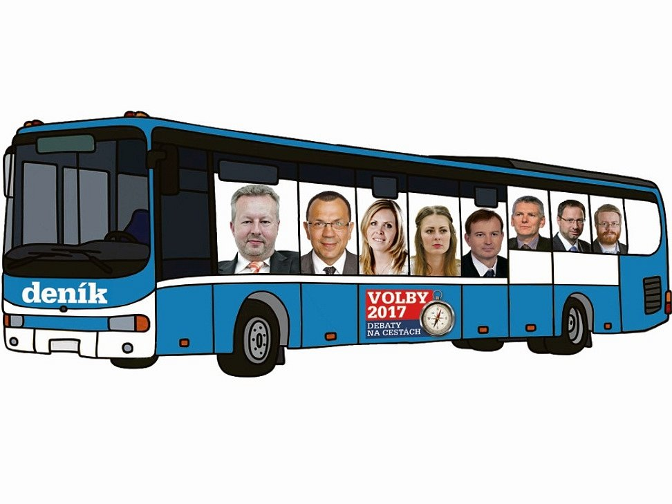 Lídry politických stran přiveze Deník autobusem.