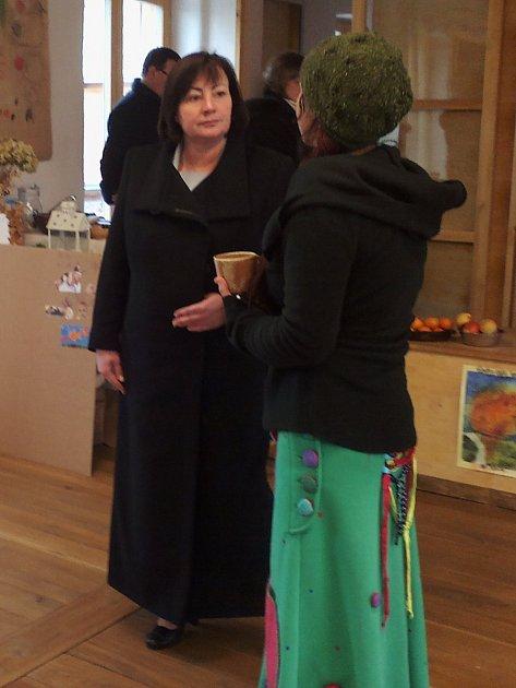 První dáma má za sebou návštěvu Lesní školky Jurta vděčínských Nebočadech.