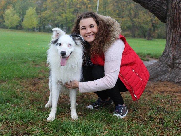 Lukas se svou majitelkou Terezou Kamínkovou.