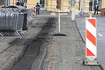 Silnice v ulici Prokopa Holého se propadá.