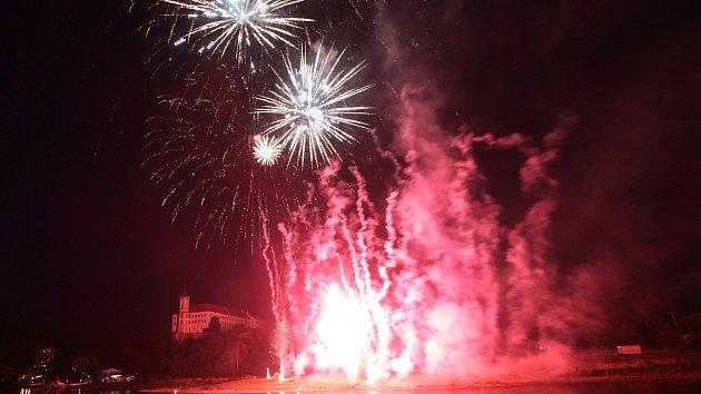 Děčínské slavnosti 2018 - ohňostroj
