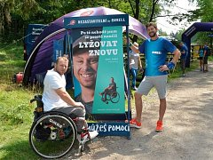 Mezi účastníky projektu Nezastavitelní v Českém Švýcarsku byl i Karel Danko.