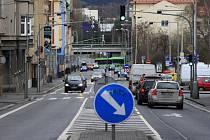 Podmokelská ulice v Děčíně.